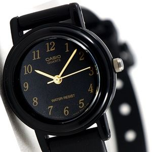Casio Classic Ladies Watch Resin Band Black Dial